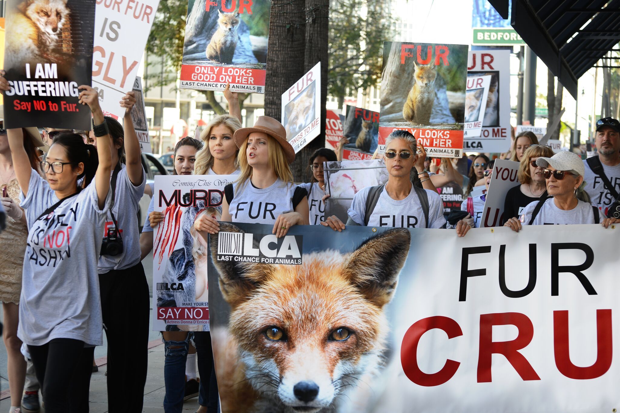the animal rights protests against the fur trade