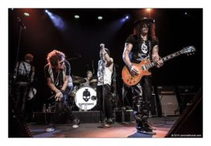 Jul 29, 2015 - San Francisco, California, USA - Supergroup The Kings Of Chaos featuring rock legends Slash (Guns N' Roses, Velvet Revolver), Sammy Hagar (Van Halen), Matt Sorum (Guns N' Roses), Gilby Clarke, Duff McKagan (Guns N' Roses, Velvet Revolver), Billy Duffy (The Cult), Glenn Hughes (Deep Purple) and Myles Kennedy (Alter Bridge), perform live at the Fillmore at the benefit for Ric O'Barry's Dolphin Project, a not for profit campaign aimed at putting an end to dolphin exploitation and slaughter around the world. (Credit Image: © Jerome Brunet/ZUMA Press)