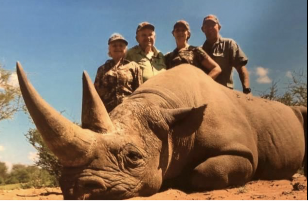 In America, permits have been issued to hunt and import black rhino. Texan billionaire Lacy James Harber was famously pictured with one slain beast he had planned to take back to the US.